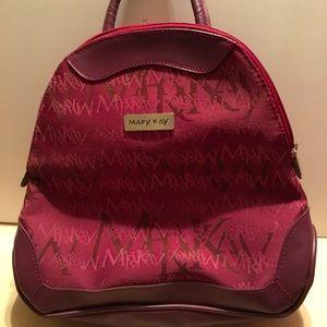 Mary Kay Signature Backpack Burgundy Leather Trim